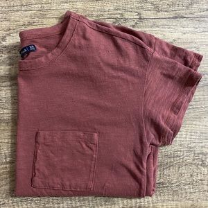 Burnt Red Abercrombie & Fitch T-Shirt with pocket